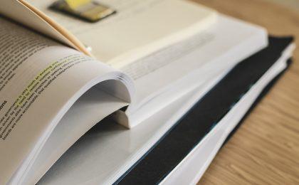 open books to indicate homework