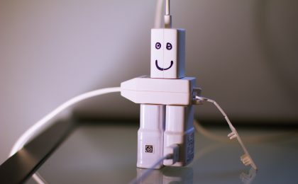charachter made out of plugs