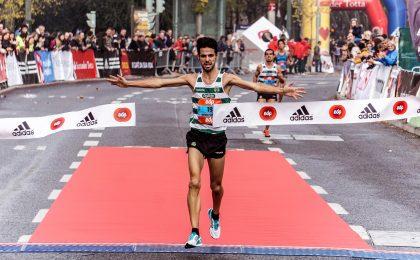 runner crossing finishing tape